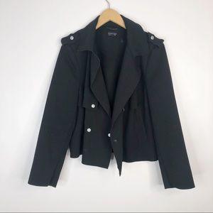 Topshop Black Raw Hem Moto Jacket